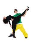 Pares jovenes de baile Fotos de archivo libres de regalías