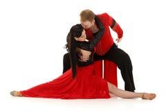 Pares jovenes de baile. Fotos de archivo libres de regalías