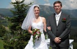 Pares jovenes de la boda imagen de archivo libre de regalías