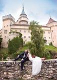 Pares jovenes de la boda imágenes de archivo libres de regalías