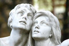 Pares jovenes de mármol Imagen de archivo libre de regalías