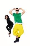 Pares jovenes del baile Imagen de archivo