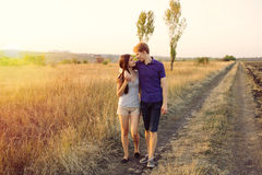 Pares jovenes en amor Imagen de archivo