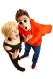 Pares jovenes felices Fotografía de archivo libre de regalías