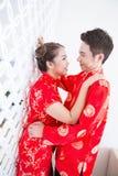 Pares chinos jovenes felices Imagenes de archivo