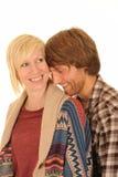 Pares jovenes felices en amor Foto de archivo libre de regalías