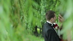 Pares jovenes hermosos de la boda metrajes
