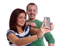 Pares jovenes que toman el selfie Imagen de archivo