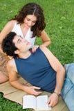 Pares jovenes románticos Imagen de archivo libre de regalías