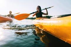 Pares kayaking Imagen de archivo