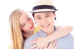 Pares lesbianos romancing Imagen de archivo libre de regalías