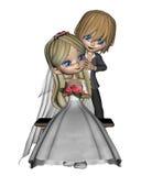 Pares lindos de la boda de Toon - 3 Fotografía de archivo