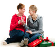 Pares lésbicas Fotografia de Stock Royalty Free
