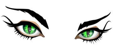 Pares mágicos de olhos Ilustração do Vetor