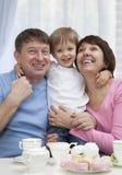 Pares maduros con el nieto Fotos de archivo