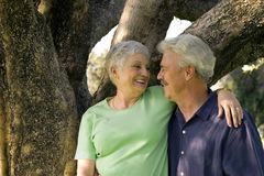 Pares mais velhos consideráveis Foto de Stock Royalty Free