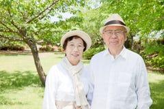 Pares mayores asiáticos Foto de archivo libre de regalías