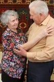 Pares mayores de baile Foto de archivo