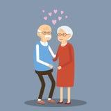 Pares mayores en amor Imagen de archivo libre de regalías