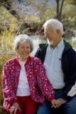 Pares mayores en amor Fotografía de archivo