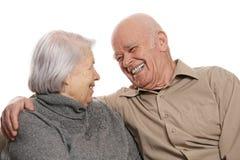 pares mayores felices Imagen de archivo