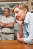 Pares mayores que tienen una discusión Fotografía de archivo libre de regalías