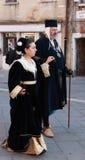 Pares medievales Fotografía de archivo libre de regalías