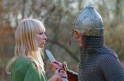 Pares medievales jovenes Imagenes de archivo