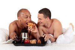 Pares mezclados del homosexual de la pertenencia étnica Imagen de archivo