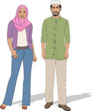 Pares muçulmanos Foto de Stock Royalty Free