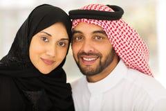 Pares muçulmanos novos fotografia de stock