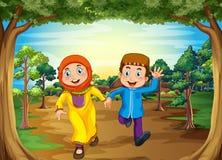 Pares musulmanes stock de ilustración