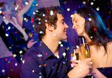 Pares na celebração Fotografia de Stock Royalty Free