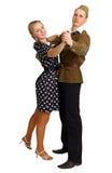 Pares na dança antiquado da roupa Imagem de Stock Royalty Free