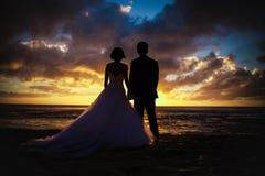 Pares na praia Fotografia de Stock Royalty Free
