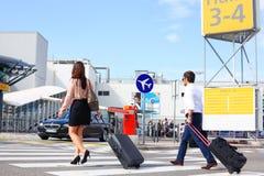 Pares no aeroporto Foto de Stock