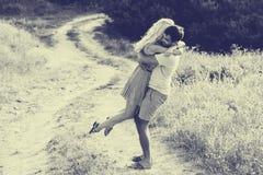 Pares no amor junto nas horas de verão Rebecca 36 Imagem de Stock