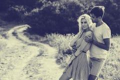 Pares no amor junto nas horas de verão Rebecca 36 Fotografia de Stock