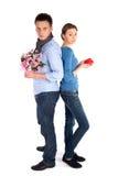 Pares no amor que está de volta à parte traseira Fotografia de Stock Royalty Free