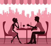 Pares no café Imagem de Stock Royalty Free