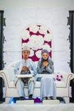 Pares no dia do casamento Fotos de Stock Royalty Free