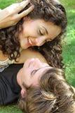 Pares no menino e na menina do amor Fotografia de Stock