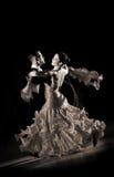Pares no pose da dança Foto de Stock Royalty Free