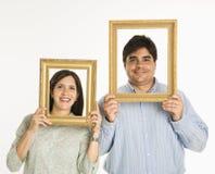 Pares nos frames. Imagens de Stock