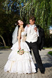 Pares, novia y novio felices Fotos de archivo