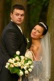 pares Novo-casados Imagens de Stock Royalty Free