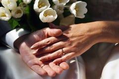 pares Novo-casados Imagens de Stock