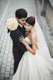 Pares novos à moda elegantes Foto de Stock Royalty Free