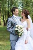Pares novos do casamento Fotografia de Stock