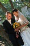 Pares novos do casamento fotos de stock royalty free